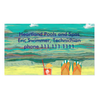 Relaxing at the Beach, Customizable Double-Sided Standard Business Cards (Pack Of 100)