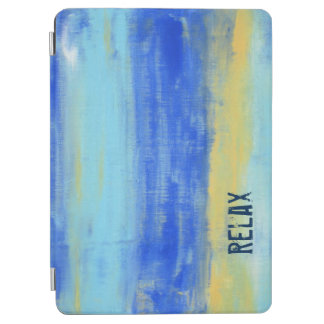 Relaxing Beach Blue Yellow Abstract Art iPad Air Cover