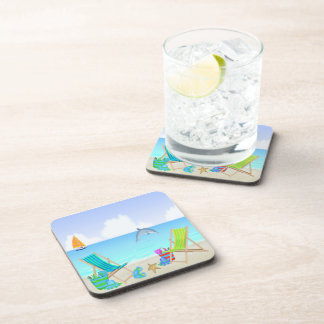 Relaxing Beach Drink Coaster Set (6)
