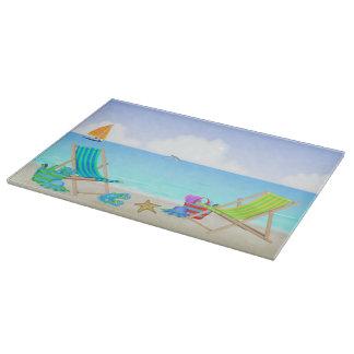 """Relaxing Beach Glass Cutting Board (15""""x11"""")"""