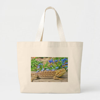 Relaxing Bearded Dragon Large Tote Bag