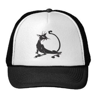 Relaxing Black Cat Mesh Hats
