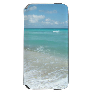 Relaxing Blue Beach Ocean Landscape Nature Scene Incipio Watson™ iPhone 6 Wallet Case