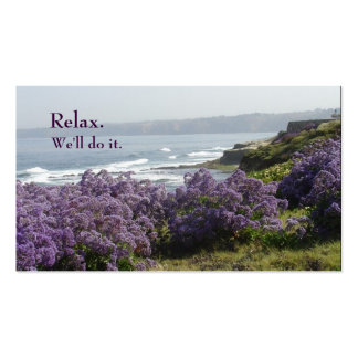 Relaxing Coastline Travel Business Card