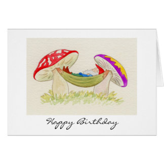 Relaxing Gnome Birthday Card