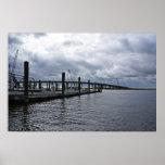 Relaxing Ocean City Dock Overcast (New Jersey) Poster