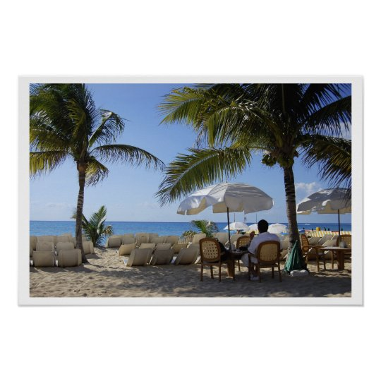 Relaxing on a Caribbean Beach Poster