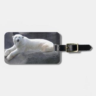 Relaxing Polar Bear Luggage Tag