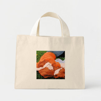 Relaxing, Red & Orange Flower Bag