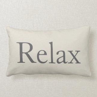 Relaxing Relax Throw Pillow Guest Room Decor