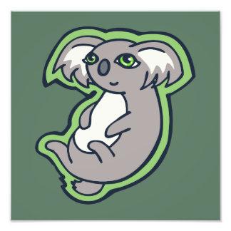 Relaxing Smile Gray Koala Green Drawing Design Art Photo