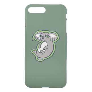 Relaxing Smile Gray Koala Green Drawing Design iPhone 7 Plus Case