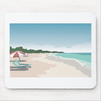 Relaxing Tropical Beach Scene Mouse Mats