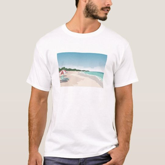 Relaxing Tropical Beach Scene T-Shirt