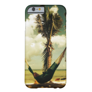 Relaxing tropical hammock nap barely there iPhone 6 case