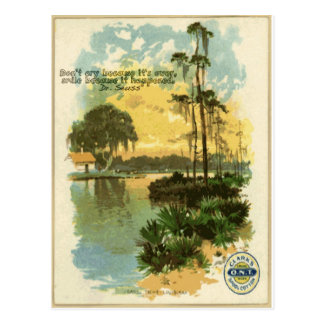 Relaxing Vintage Beach Postcard