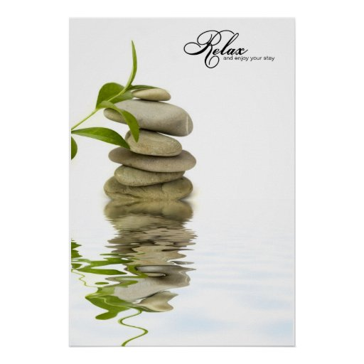 Relaxing Zen Stone Reflection Poster