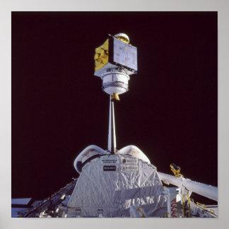 Release of SATCOM KU-2 Satellite from Atlantis Print