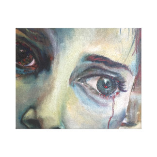 Release Powerful Emotion Woman Cry Painting Canvas Print