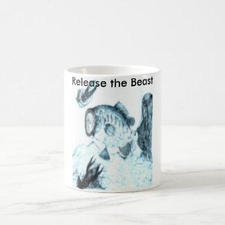 Release the big old beast basic white mug