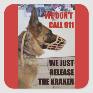 Release the Kraken German Shepherd Sticker