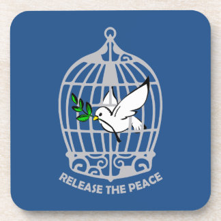 Release the Peace Dove Beverage Coasters
