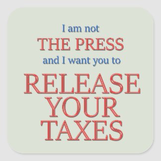 Release your taxes square sticker