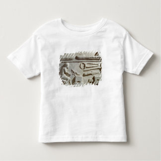 Relief depicting a blacksmith's shop and tools toddler T-Shirt