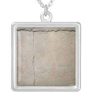Relief depicting a boat journey silver plated necklace
