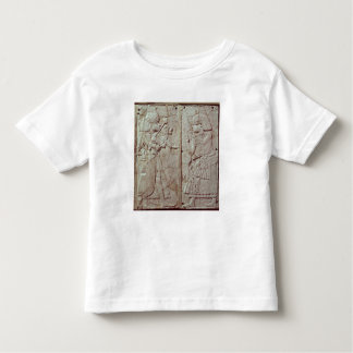 Relief depicting a guard holding toddler T-Shirt