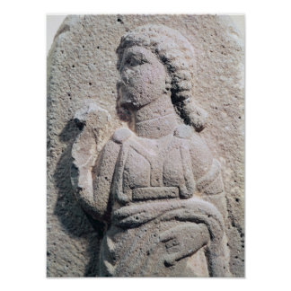 Relief depicting a Hittite woman in Poster