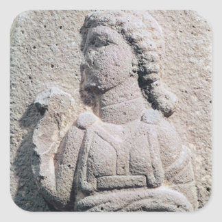 Relief depicting a Hittite woman in Square Sticker