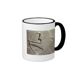 Relief depicting a hunter, from Tell-Halaf, Coffee Mugs