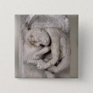 Relief depicting a man 15 cm square badge