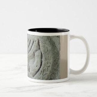 Relief depicting a menorah Two-Tone coffee mug