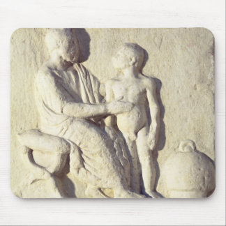 Relief depicting a visit to the doctor mouse pad