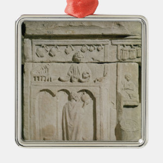 Relief depicting a wine merchant christmas ornament