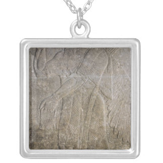 Relief depicting a Winged Genie Silver Plated Necklace