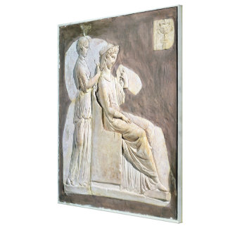 Relief depicting a woman at her toile canvas prints
