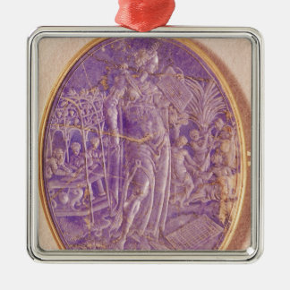 Relief depicting an Allegory of Music Christmas Ornament