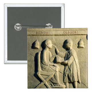 Relief depicting an oculist examining a patient 15 cm square badge