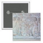 Relief depicting archers 15 cm square badge