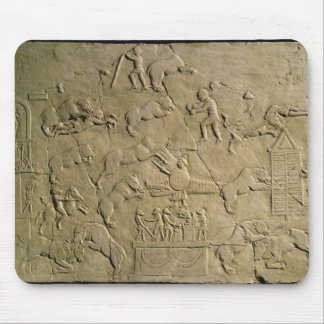 Relief depicting circus games mouse mat