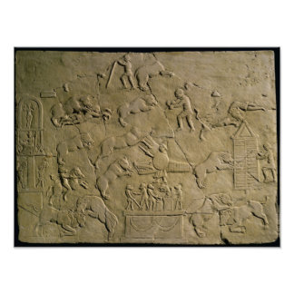 Relief depicting circus games poster