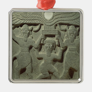 Relief depicting Gilgamesh between two Christmas Ornament