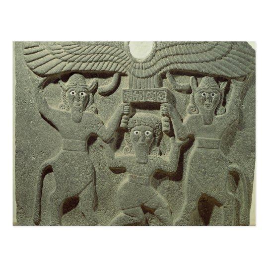 Relief depicting Gilgamesh between two Postcard