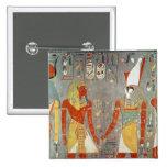 Relief depicting Horemheb  before Horus 15 Cm Square Badge