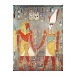 Relief depicting Horemheb  before Horus Canvas Prints