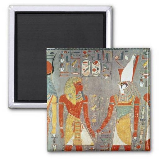 Relief depicting Horemheb  before Horus Square Magnet
