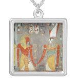 Relief depicting Horemheb  before Horus Square Pendant Necklace
